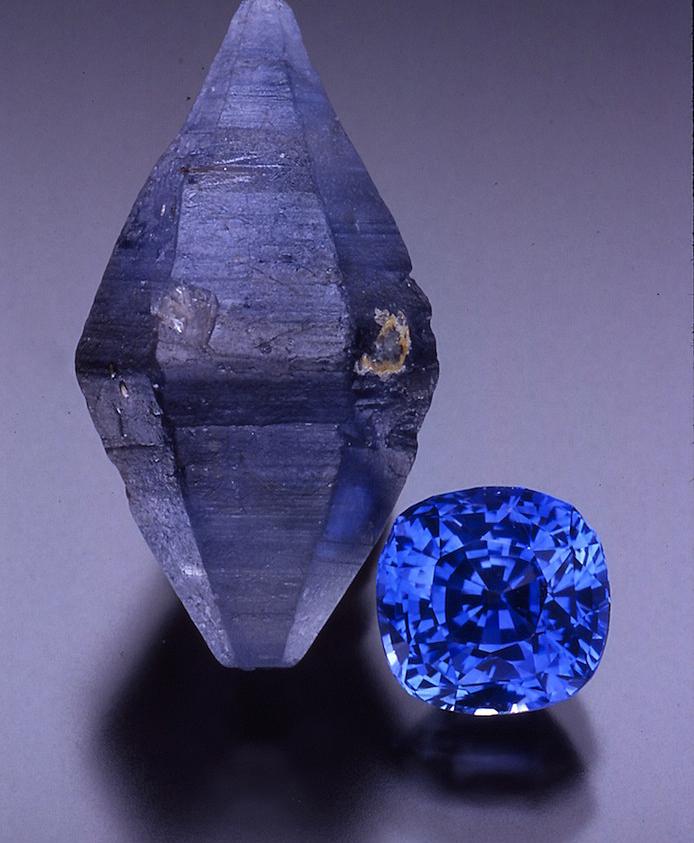 Sapphire, the royal blue gemstone with more than one shade of blue.